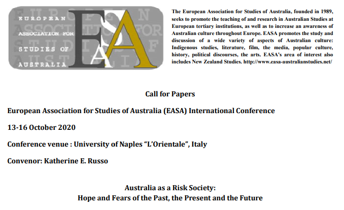 CFP: 2020 EASA Conference